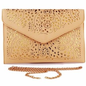 Handbags - Cheeky Budha Laser Cut Large Envelope Clutch Bag